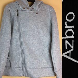AZBRO Hoodie Sweatshirt Women Sportwear  Zipper